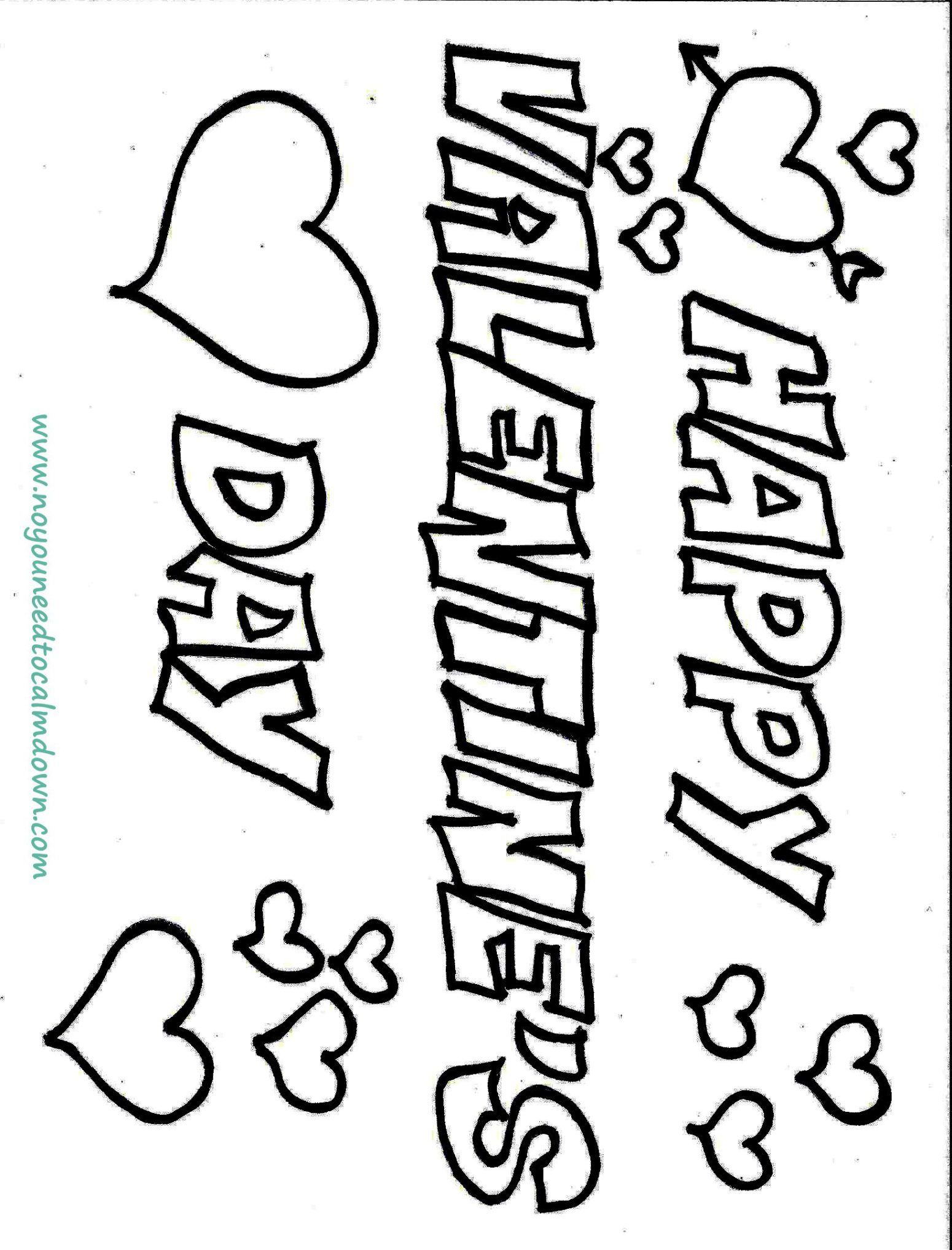 Happy Valentine S Day Coloring Page Free Printable Valentines