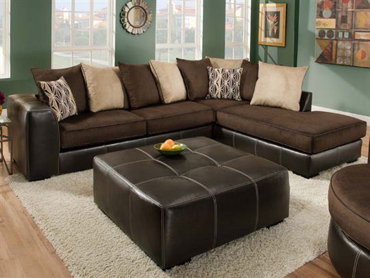Martin Chocolate Sectional Furniture Ideas Victory Vista