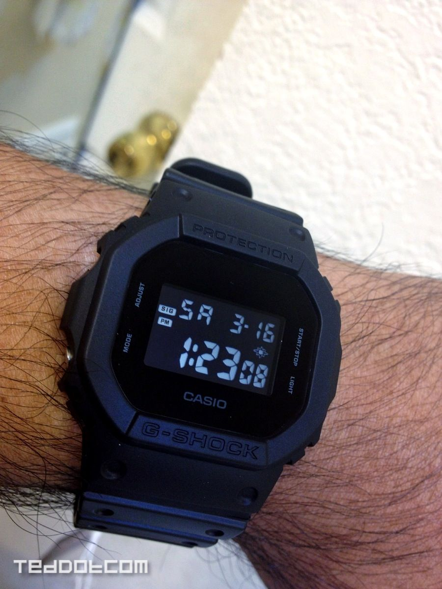 36926db8861 My recently acquired DW-5600BB-1JF. Love the minimal black on black  colorway.