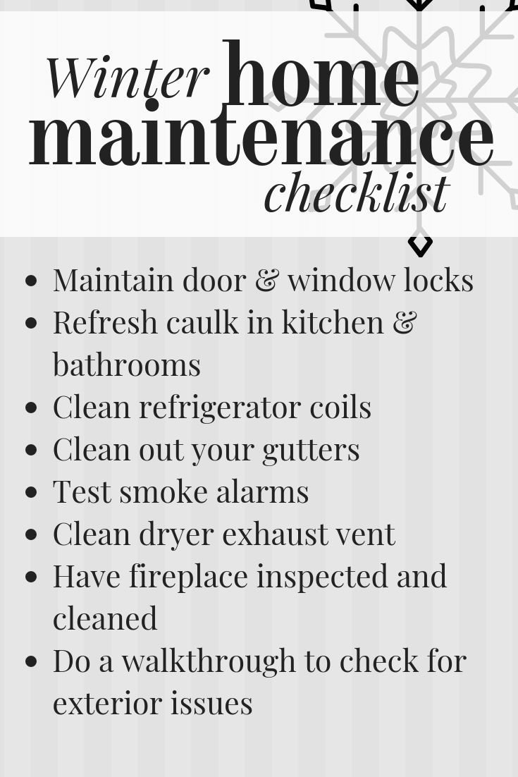 Winter Home Maintenance – Love & Renovations