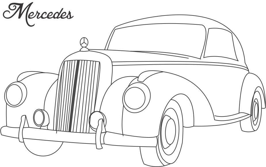 Mercedes Car Coloring Printable Page For Kids Cars Coloring