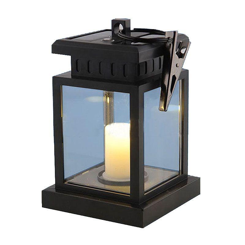Outdoor LED Solar Garden Light Candle Lamps Umbrella Tree Lantern  Waterproof Lights For Garden Decoration Camping