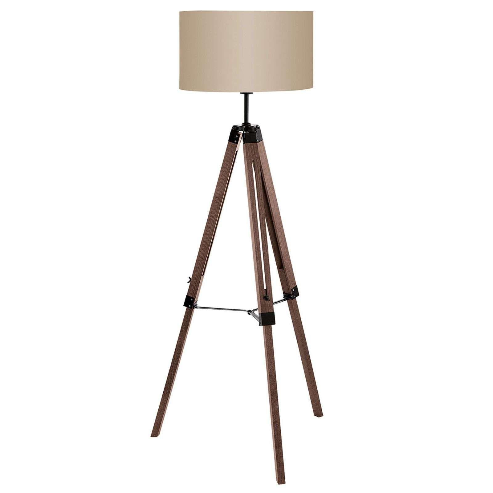 Stehleuchte Lantada Mit Dreibein Holzgestell Stehlampe