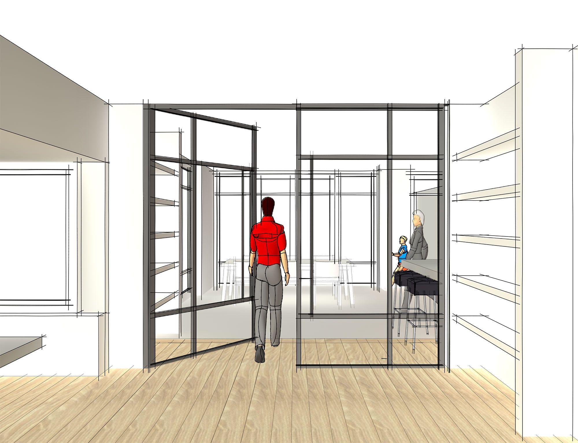 Stalen deuren kamer-en-suite
