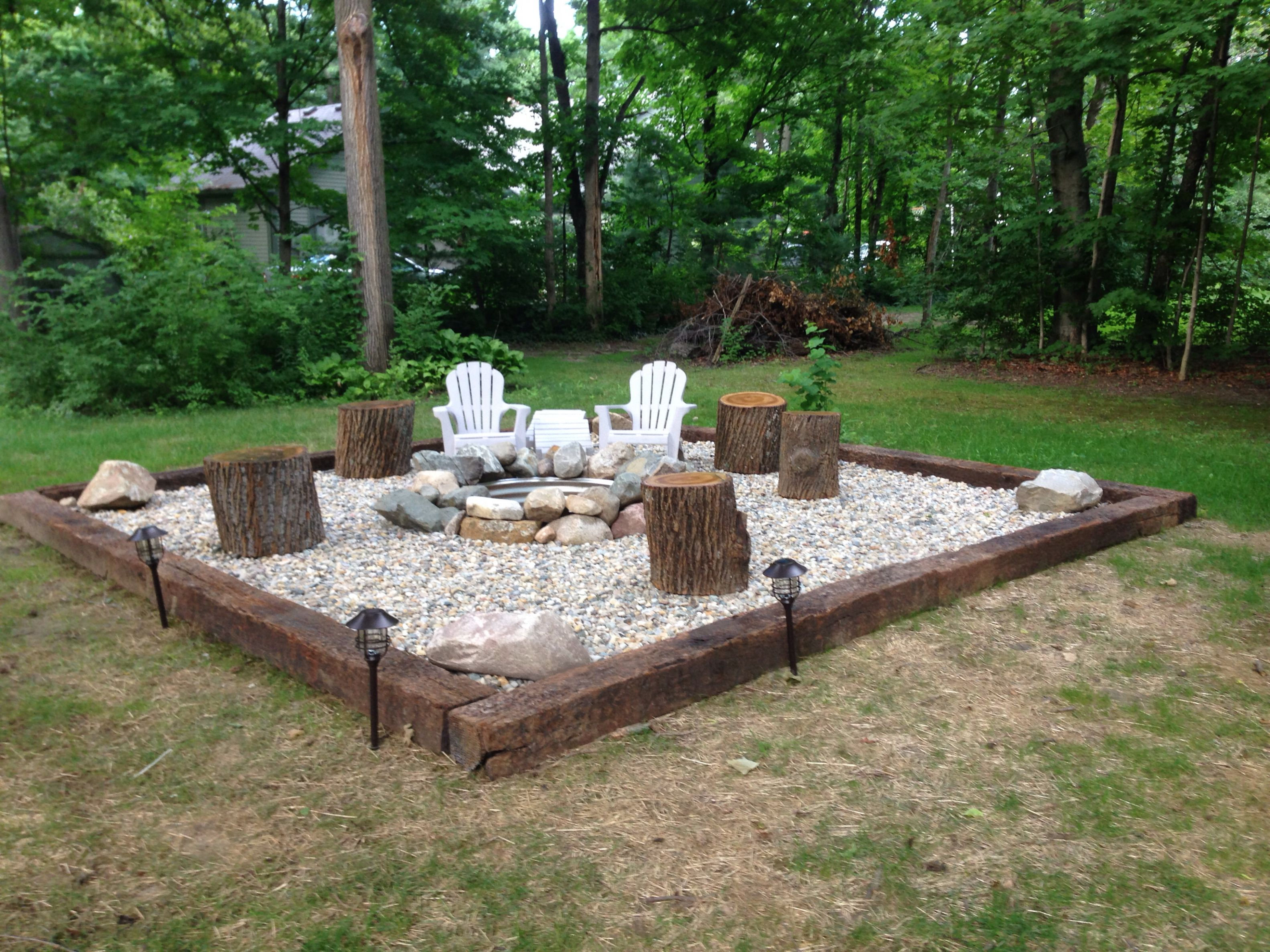 cheap and easy fire pit ideas