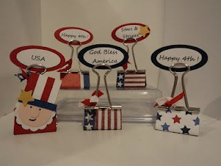 Cute Idea For Using Binder Clips Could Make Place Card Holders