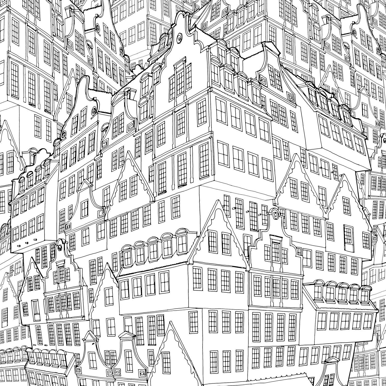 Ausmalen Kreuzworträtsel Erwachsenen Färbung Zeichnungen Skizzierung Instagram Doodles Städte Ideen Mandalas Architektur Mcdonalds
