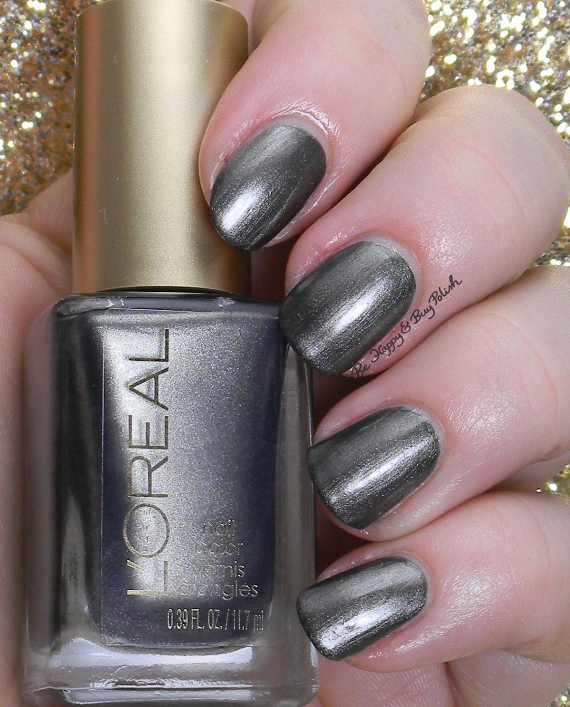 L\'Oreal Dark Sides of Grey nail polishes swatches + review   Grey ...