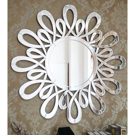 B Lighting Inc Ferrara Wall Mirror M 2016 40 Inch Round Modern Wall