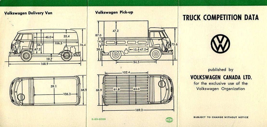 VW Kombi Internal Dimensions | Veedubs! | Pinterest | Vw