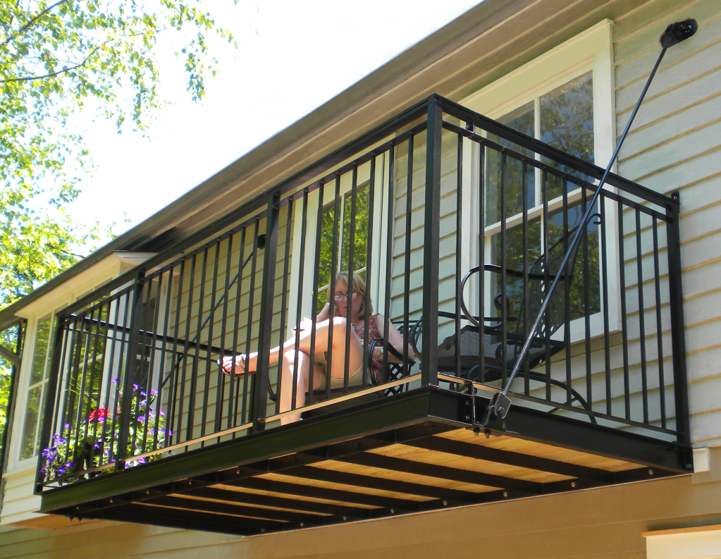 Metal balcony google search self builds pinterest for Metal balcony