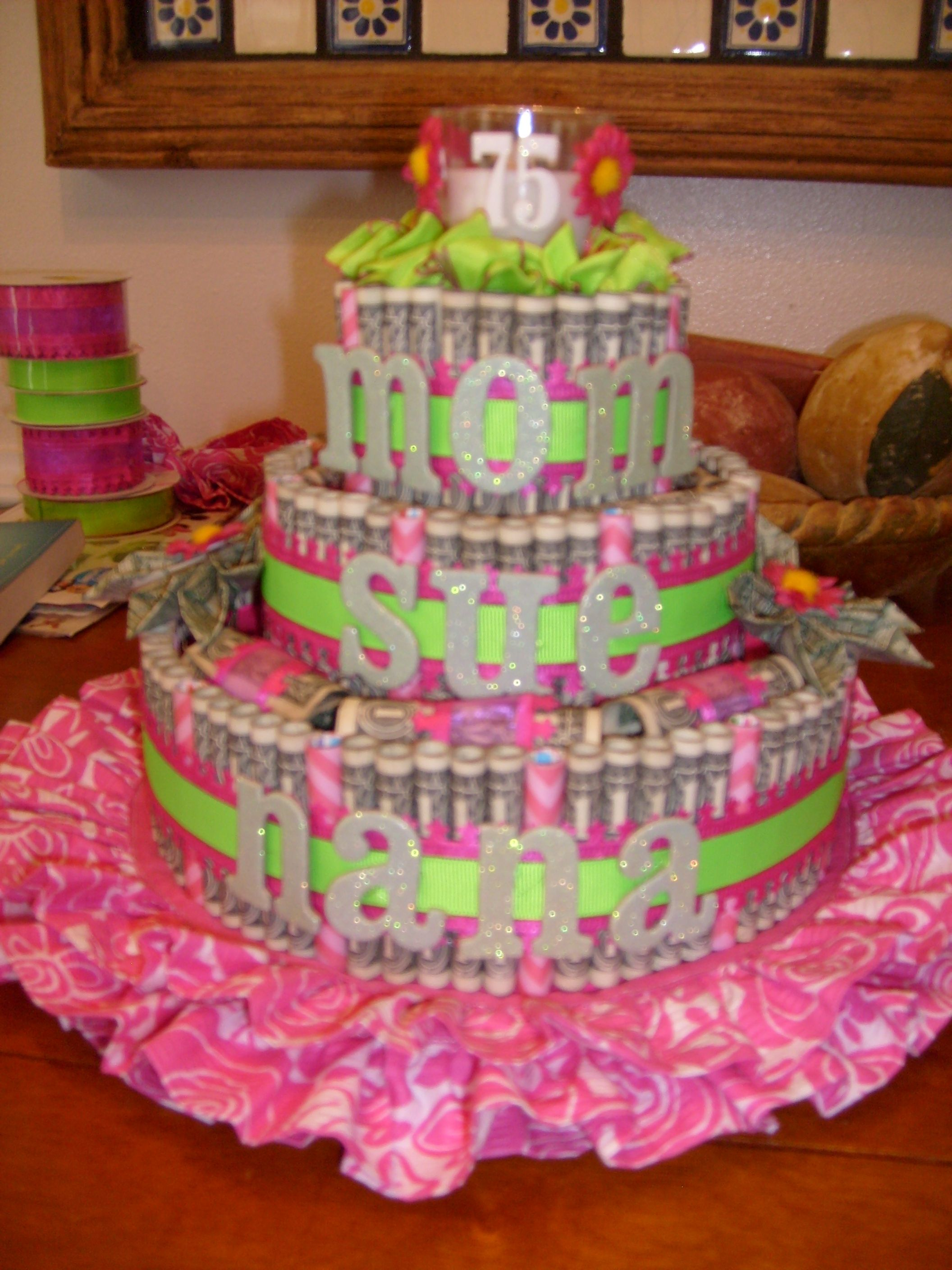 The Birthday Money Cake I Made For Moms 75th Contained 160