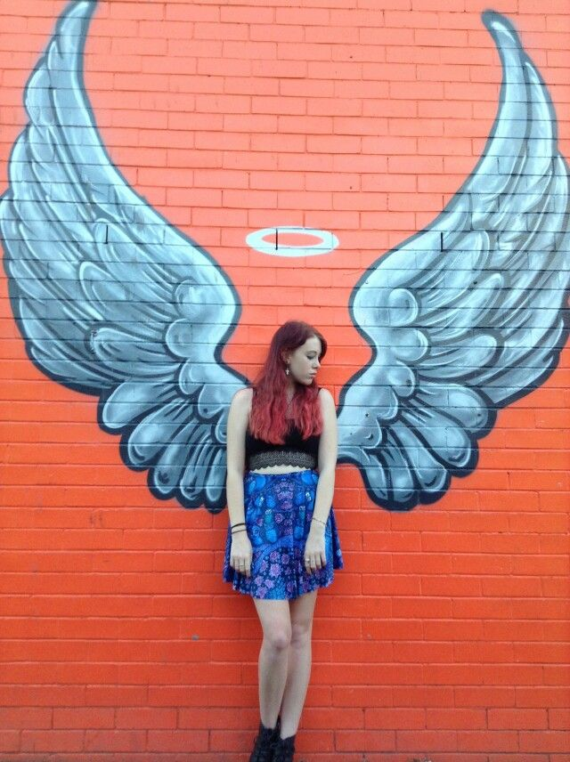 Wings Art Something Like This Would Be Excellent For Our Selfie Photo Station Angel Wings Wall Art Wings Art Mural Art