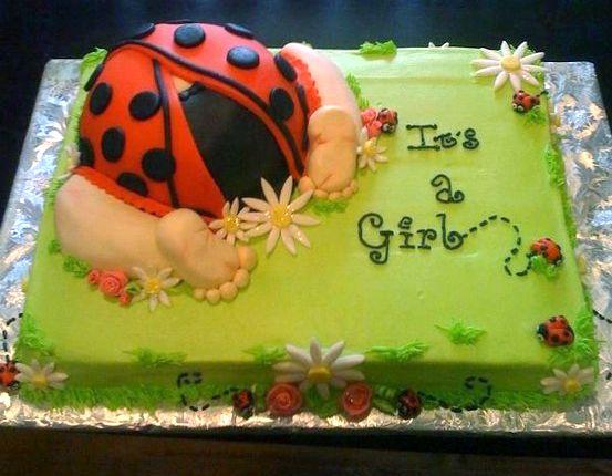 lady bug shower cake  cakes    lady bugs, shower cakes, Baby shower invitation