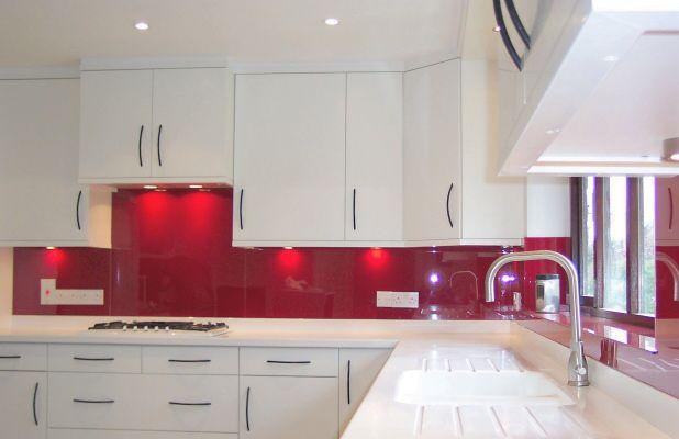 White Kitchen Red Splashback white kitchen red backsplash | kitchen fitted with an opticolour