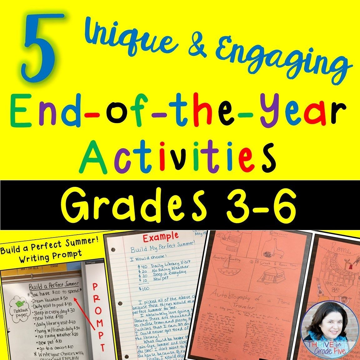 End Of The Year Activities For Grades 3 6
