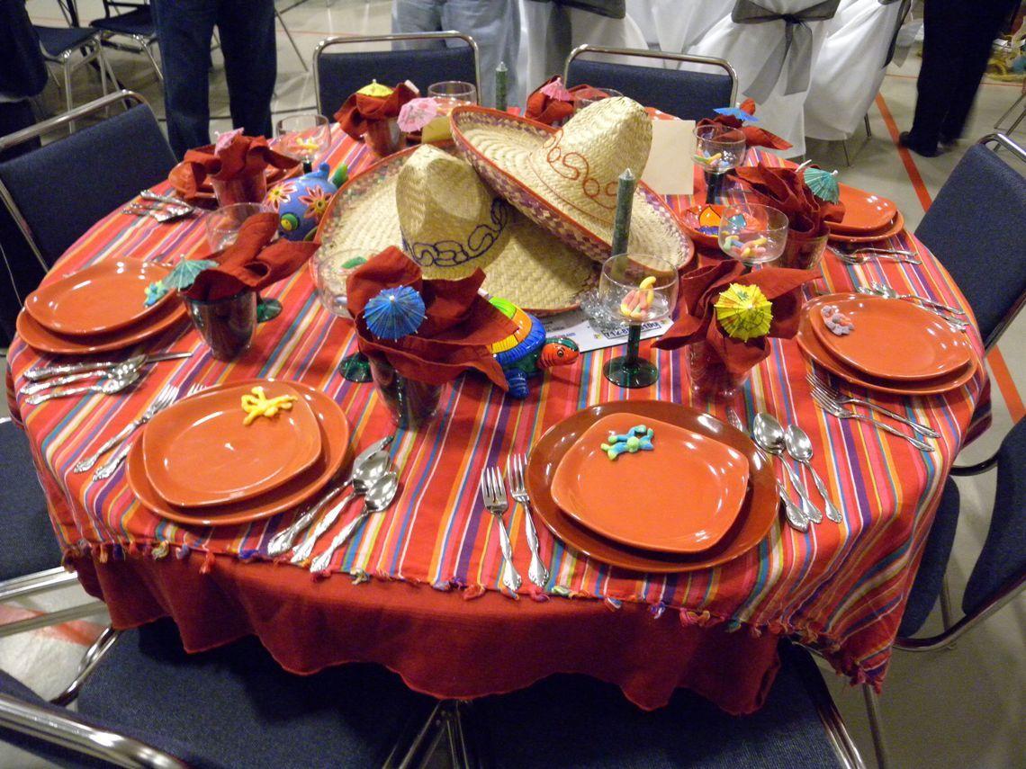 Fiesta table decorations ideas - Fiesta Centerpiece Ideas Cinco De Mayo This Table Was Called Sombrero Fiesta