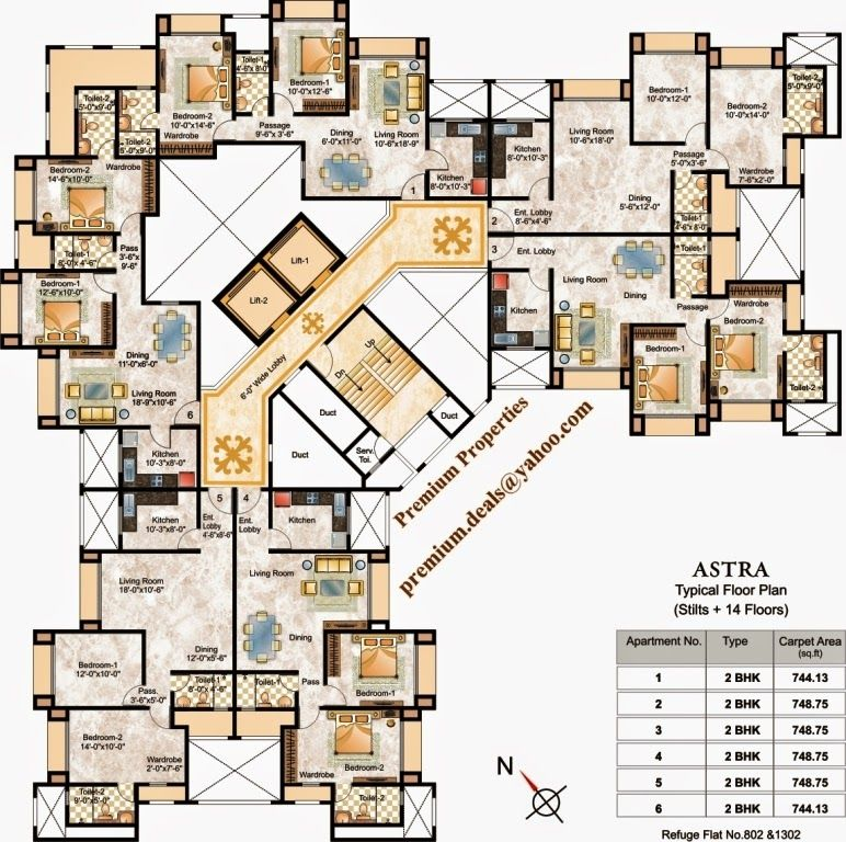 Layout Plan Floor Plans Of Astra Hiranandani Estate Thane Pictures And Views And Hotel Floor Plan Residential Architecture Apartment Residential Building Plan