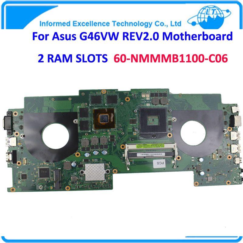 Laptop Motherboard Intel Mainboard G46VW REV2 0 2 RAM Slots