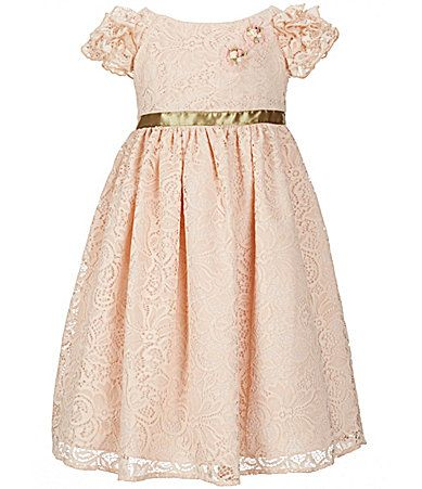 Laura Ashley London Little Girls 2T8 Lace RuffleSleeve Dress #Dillards