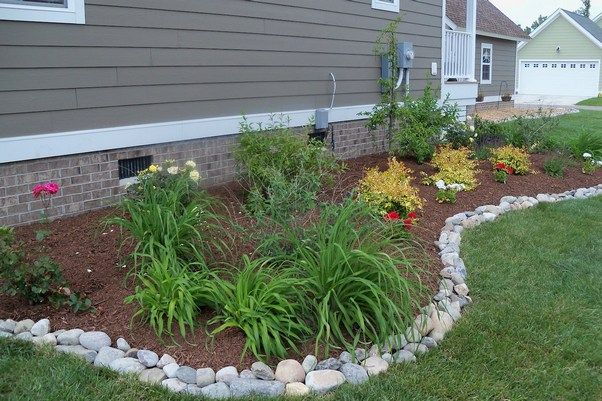 Stone landscape edging borders posts related to for Gravel path edging ideas