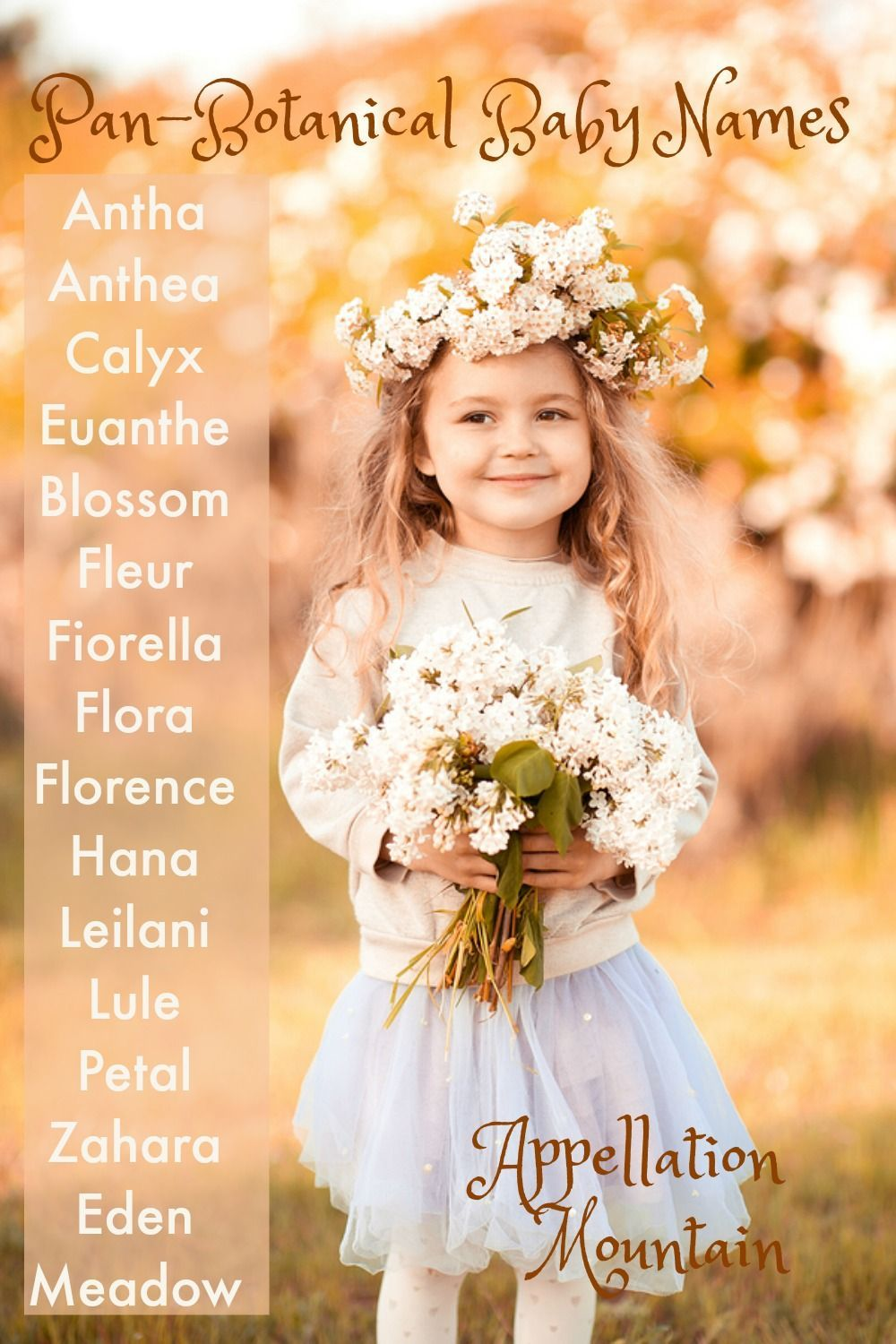 PanBotanical Baby Names Blossom, Eden and Fleur Baby