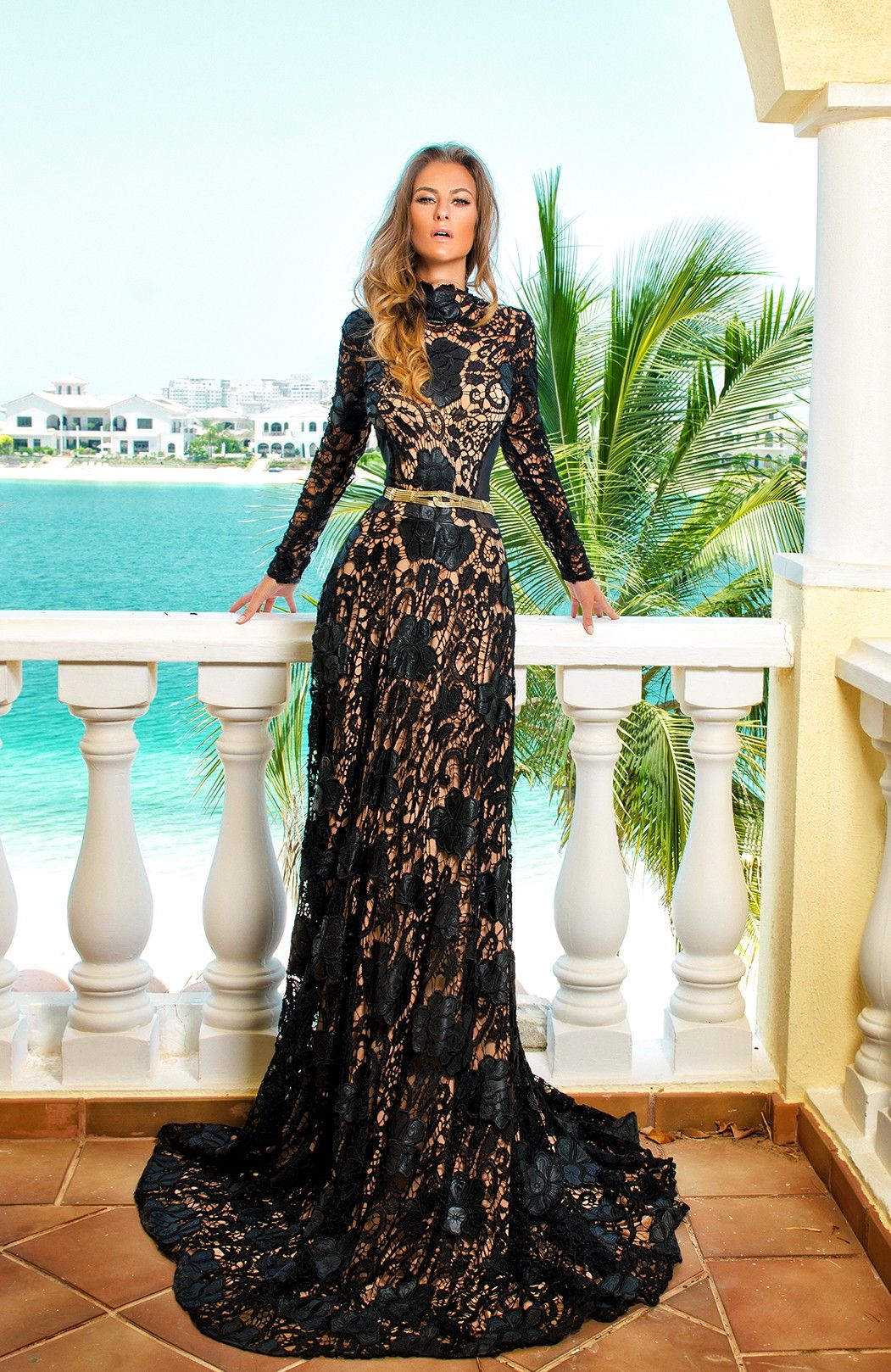 Lace Evening Gown, Night Gown. ♡ SL