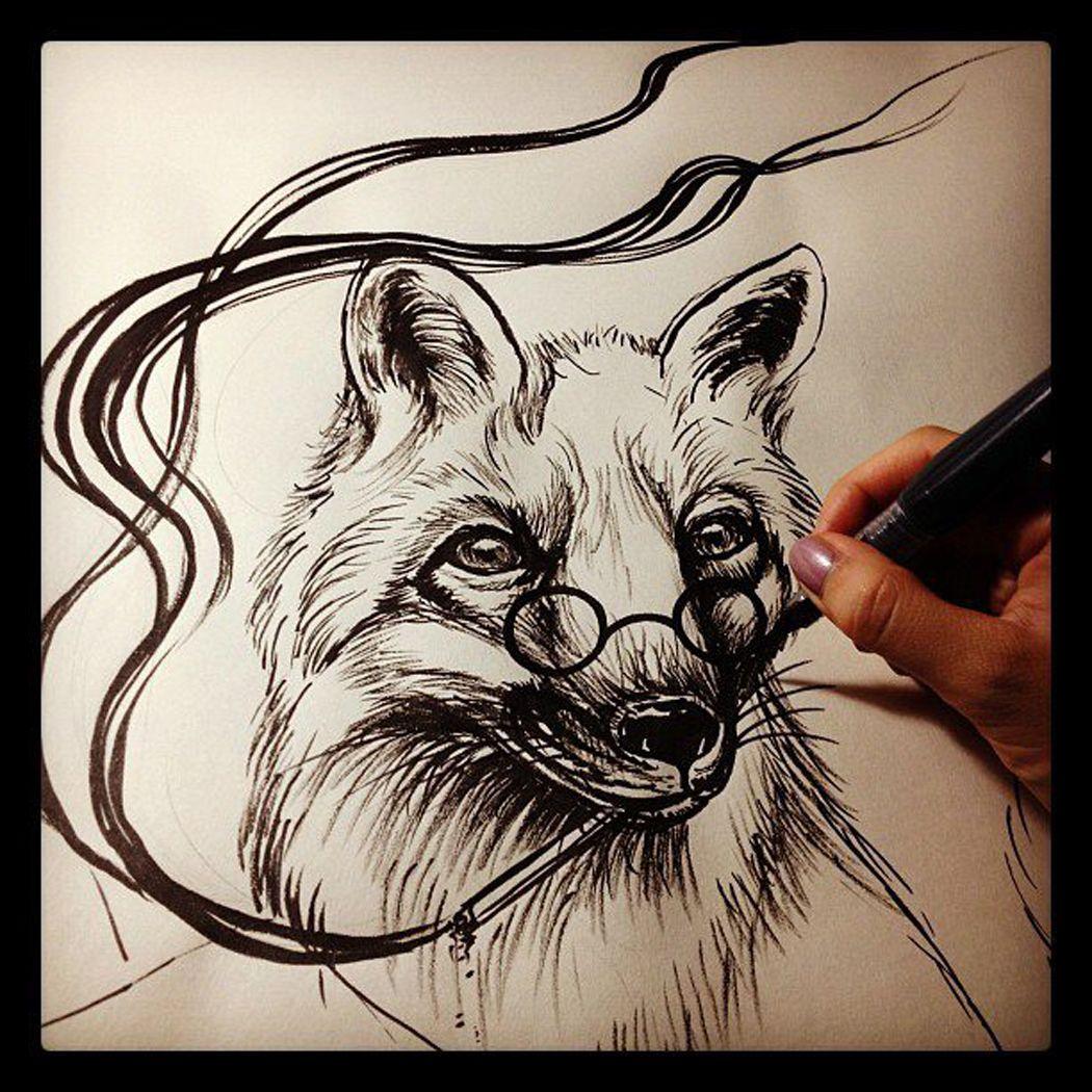 fox tattoo Done byWendy Pham.