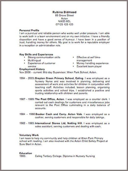 cv template free large images diy pinterest resume resume