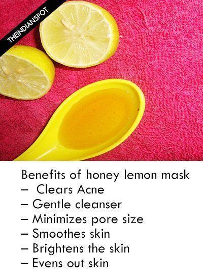 hair removal permanent facials: DIY HONEY AND LEMON MASK ...