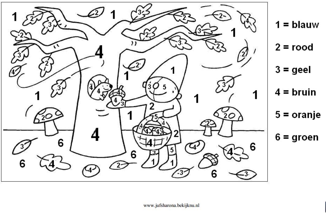 Herfst Pompom Cijfers | Schatkistanker: Herfst 1: Ritseldans en ...