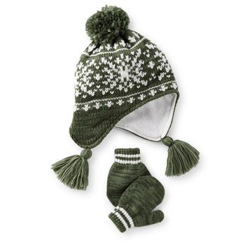 $15.00 Fair Isle Hat & Mitten Set | baby.boy.clothes | Pinterest ...