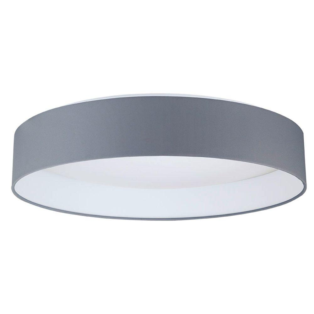 Eglo Palomaro 19 375 In W X 4 5 In Charcoal Grey Dimmable Integrated Led Ceiling Light With Linen Shade 93397a Ceiling Lights Led Ceiling Lights Flush Mount Ceiling Lights