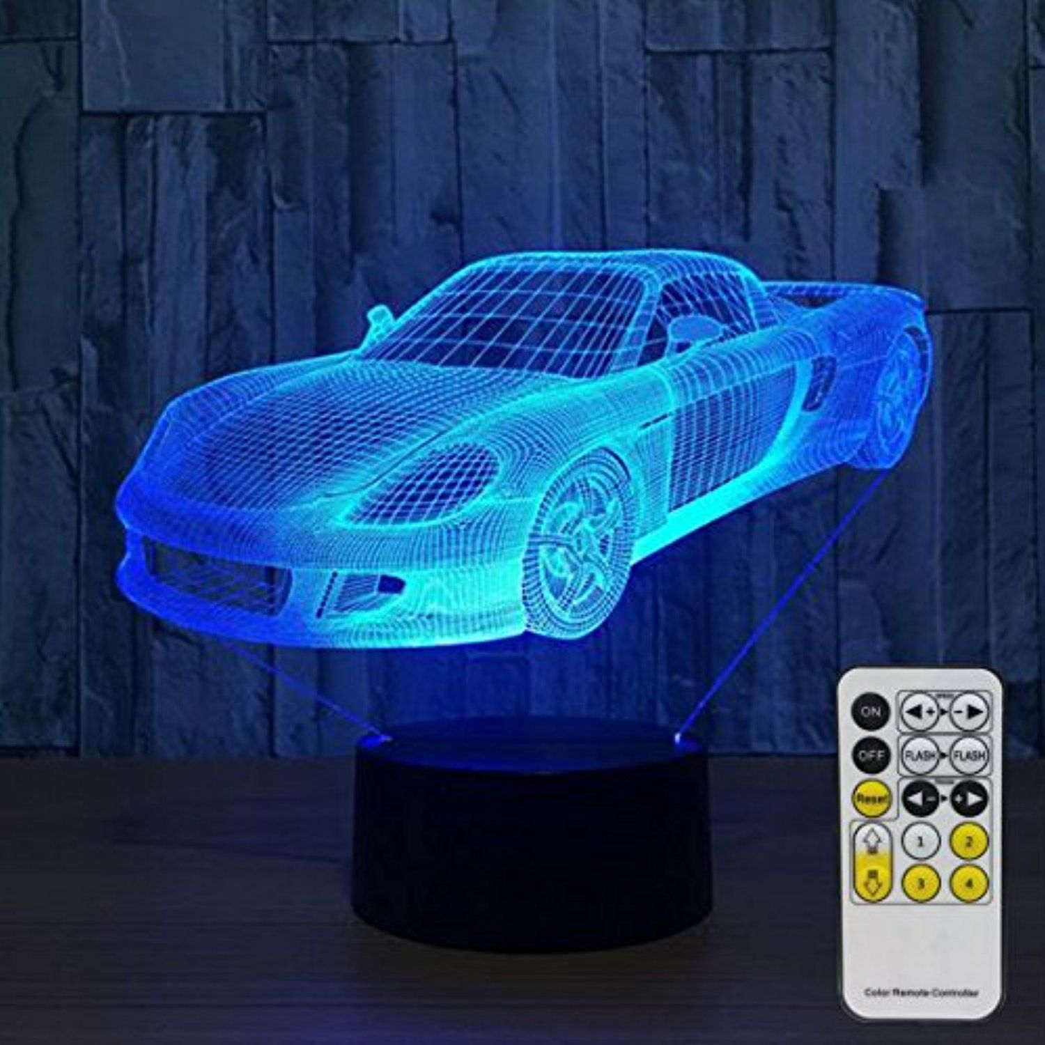 3d Night Lights For Kids With Remote Controller Led Touch 7 Colors Changing Toy Car Desk Lamp You Can Find More Details B 3d Night Light 3d Led Lamp Lights