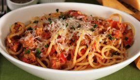 Spaghettis à la saucisse WW