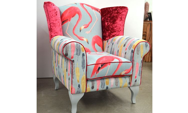 Lovely Flamingo Wing Back Occasional Chair
