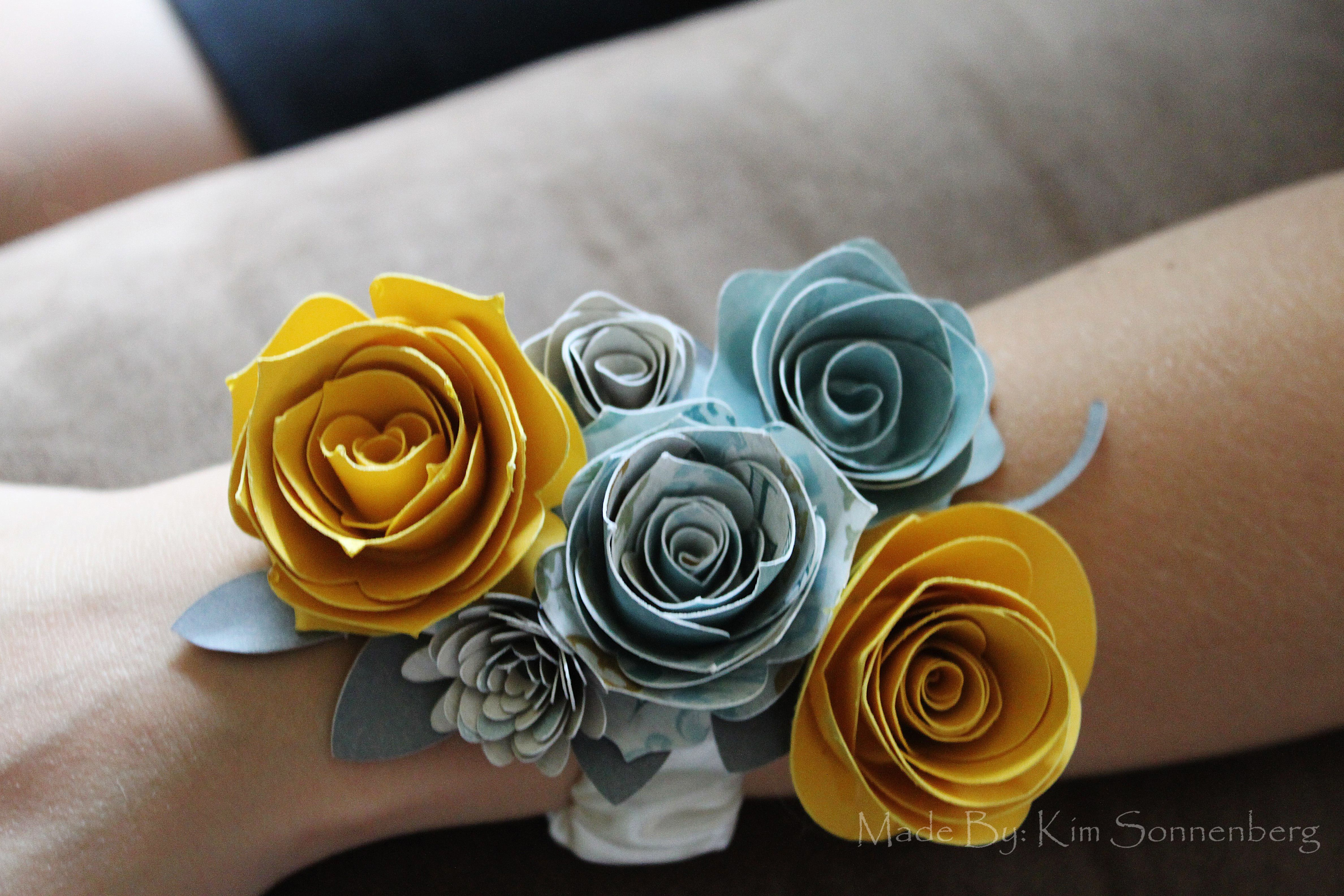 Paper Flower Corsage I Made For My Cousins Bridal Shower She Then