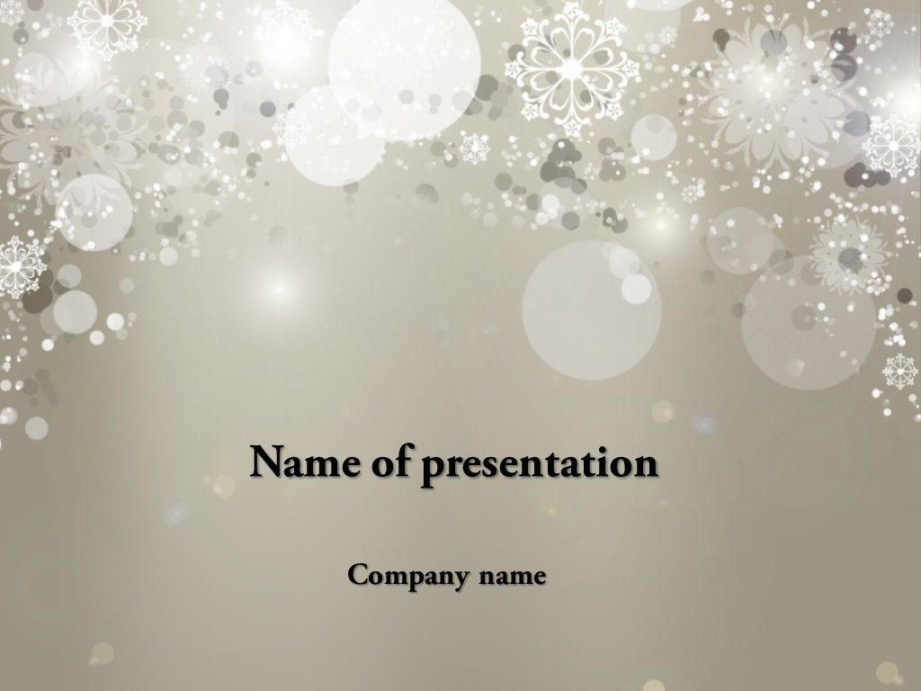 Cold Winter Powerpoint Template Ppt Pinterest Templates