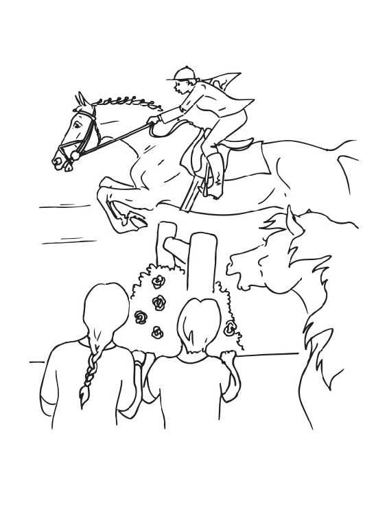 Horse Jumping Coloring Pages | Puppy coloring pages, Horse ...