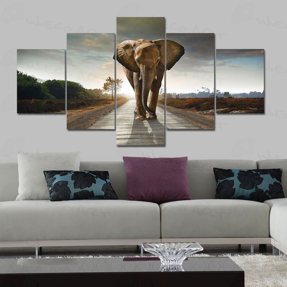 Large Paintings For Living Room Find More Painting Calligraphy Information About Wieco Art 5 Pcs