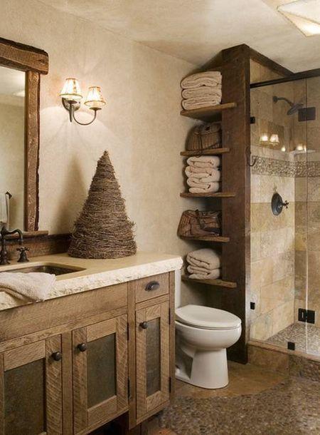 Resultado de imagen para pinterest baños pequeños rusticos