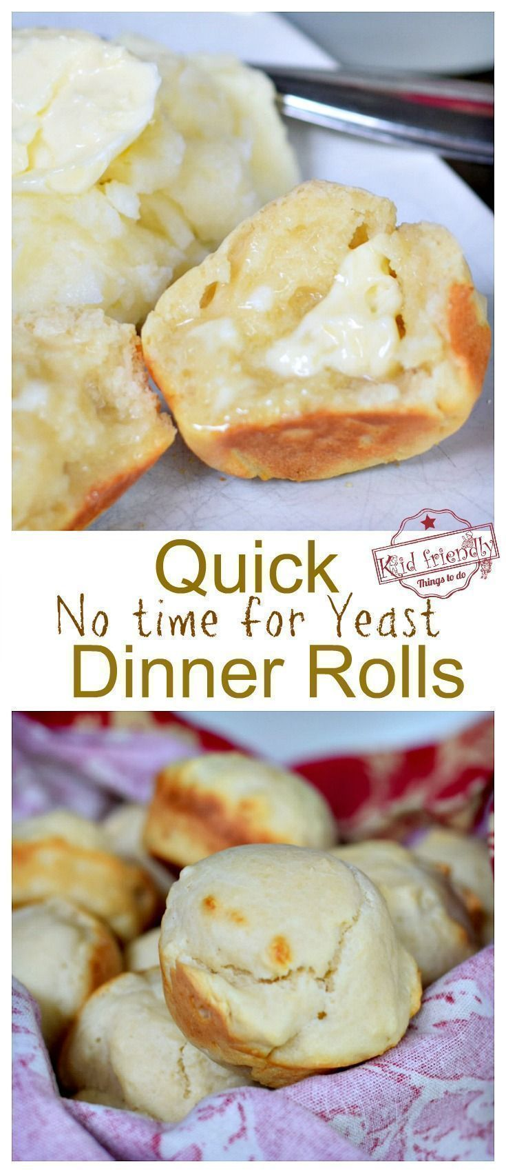 No Time For Yeast Dinner Rolls