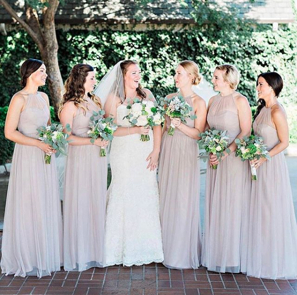 Ladies Who Latte. #Amsale #bride #bridesmaid #colors