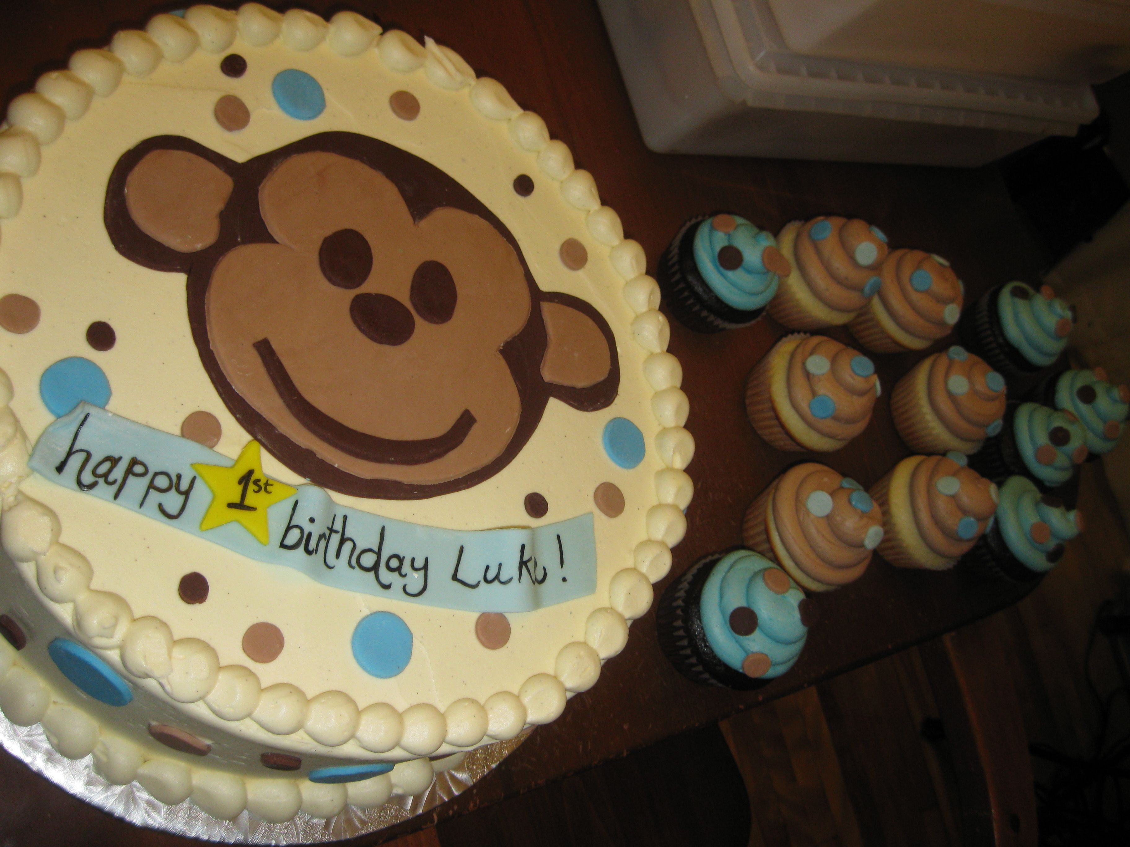 monkey face birthday cake Google Search Jujus First Birthday