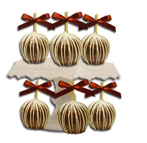 Candy Apple Wedding Favors Bulk Mini Caramel Apples 6 Apples J