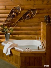 eLogHomes.Com: Idea Well - inviting bathroom ideas for log cabins -use our ideas for your log home!