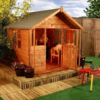 Clubhouse Idea - Off the ground | Play houses, Playhouse plans