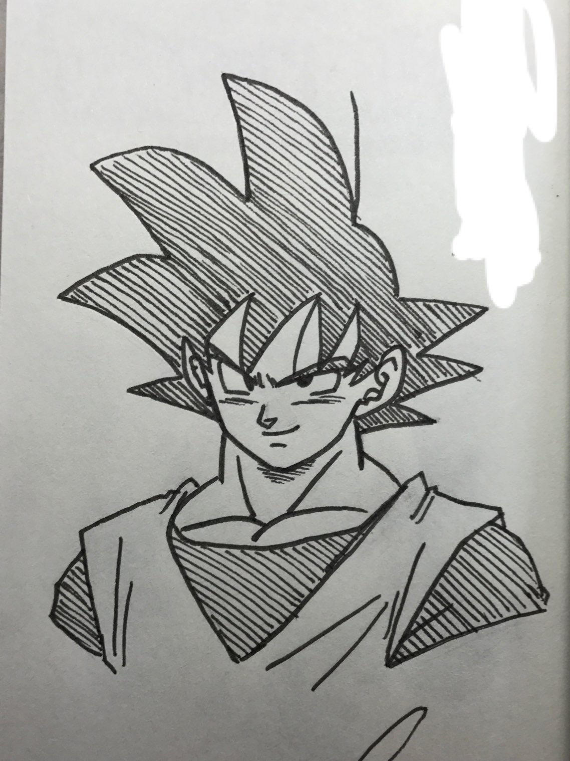 Goku Pencil Work Pictures Black And White