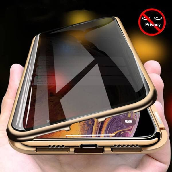 Anti-spy 360 Magnetic Adsorption Phone Case With Front+Back Glass