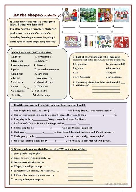 At The Shops Vocabulary Vocabulary English Lessons Home Learning